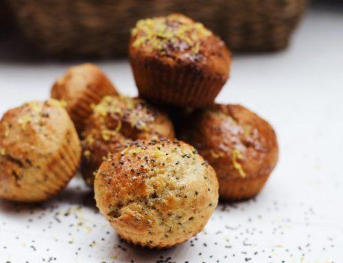 Limonlu ve Chialı Yapımı Kolay Muffin Tarifi
